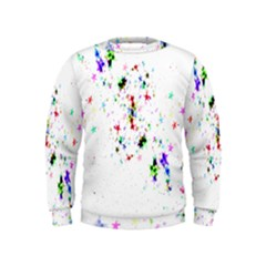 Star Structure Many Repetition Kids  Sweatshirt