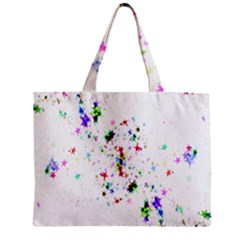 Star Structure Many Repetition Zipper Mini Tote Bag
