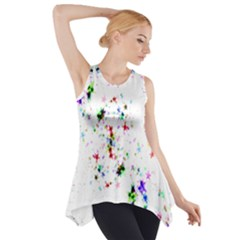 Star Structure Many Repetition Side Drop Tank Tunic