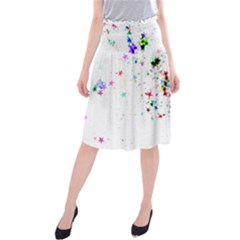 Star Structure Many Repetition Midi Beach Skirt