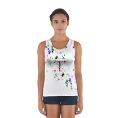 Star Structure Many Repetition Women s Sport Tank Top