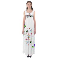 Star Structure Many Repetition Empire Waist Maxi Dress