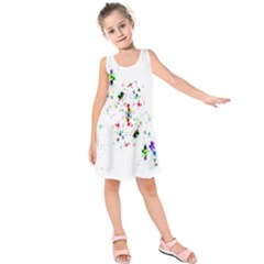 Star Structure Many Repetition Kids  Sleeveless Dress