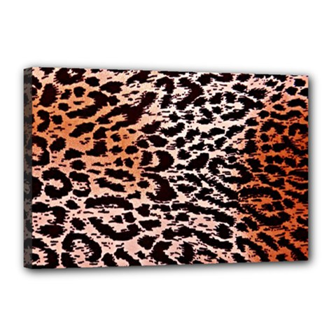 Tiger Motif Animal Canvas 18  X 12