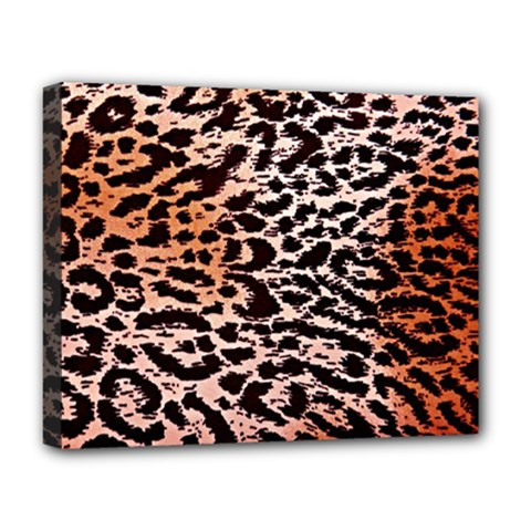 Tiger Motif Animal Deluxe Canvas 20  X 16