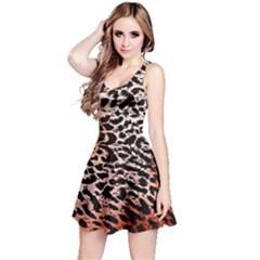 Tiger Motif Animal Reversible Sleeveless Dress