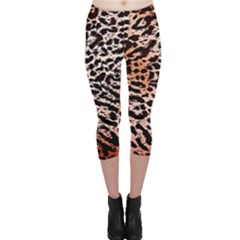Tiger Motif Animal Capri Leggings