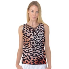 Tiger Motif Animal Women s Basketball Tank Top
