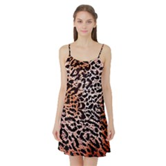 Tiger Motif Animal Satin Night Slip