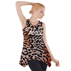 Tiger Motif Animal Side Drop Tank Tunic