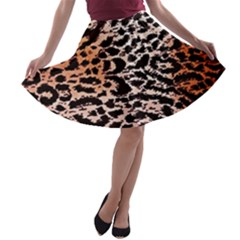 Tiger Motif Animal A-line Skater Skirt