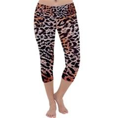 Tiger Motif Animal Capri Yoga Leggings