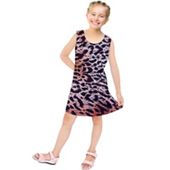 Tiger Motif Animal Kids  Tunic Dress