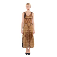The Elaborate Floor Pattern Of The Sydney Queen Victoria Building Sleeveless Maxi Dress