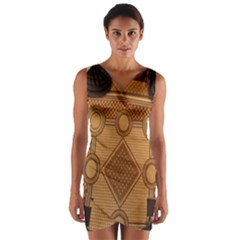 The Elaborate Floor Pattern Of The Sydney Queen Victoria Building Wrap Front Bodycon Dress