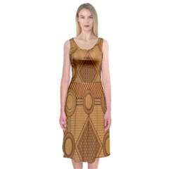 The Elaborate Floor Pattern Of The Sydney Queen Victoria Building Midi Sleeveless Dress