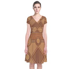 The Elaborate Floor Pattern Of The Sydney Queen Victoria Building Short Sleeve Front Wrap Dress
