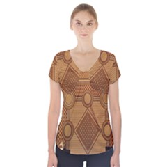 The Elaborate Floor Pattern Of The Sydney Queen Victoria Building Short Sleeve Front Detail Top