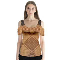 The Elaborate Floor Pattern Of The Sydney Queen Victoria Building Butterfly Sleeve Cutout Tee