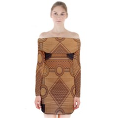 The Elaborate Floor Pattern Of The Sydney Queen Victoria Building Long Sleeve Off Shoulder Dress
