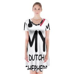 Dutch Shep Love Short Sleeve V-neck Flare Dress