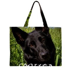 Black German Shepherd Spoiled Rotten Large Tote Bag