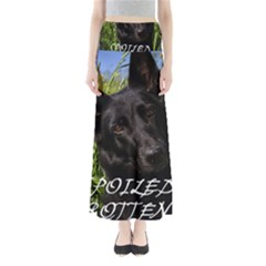 Black German Shepherd Spoiled Rotten Maxi Skirts