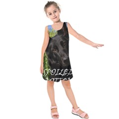 Black German Shepherd Spoiled Rotten Kids  Sleeveless Dress