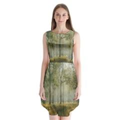 Sunray Forest Sleeveless Chiffon Dress