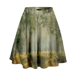 Sunray Forest High Waist Skirt