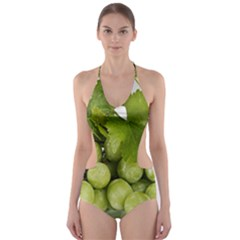 Grapes Cut-Out One Piece Swimsuit