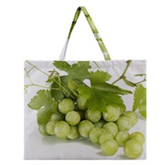 Grapes Zipper Large Tote Bag