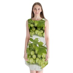 Grapes Sleeveless Chiffon Dress