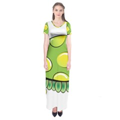 Cartoon Turtle Short Sleeve Maxi Dress