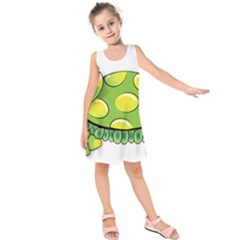 Cartoon Turtle Kids  Sleeveless Dress
