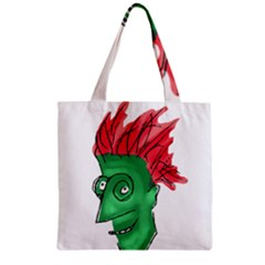 Crazy Man Drawing  Zipper Grocery Tote Bag