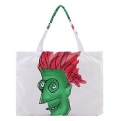 Crazy Man Drawing  Medium Tote Bag