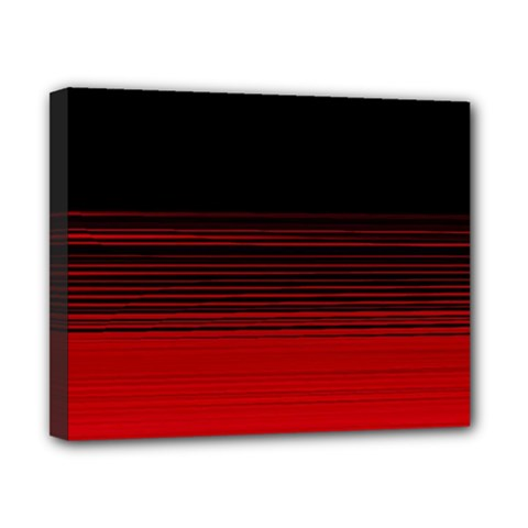 Abstract Of Red Horizontal Lines Canvas 10  X 8