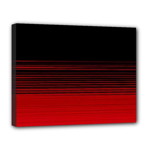 Abstract Of Red Horizontal Lines Canvas 14  X 11