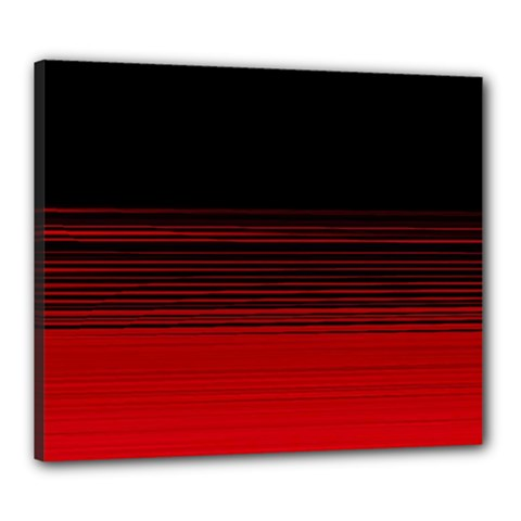 Abstract Of Red Horizontal Lines Canvas 24  X 20