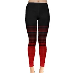 Abstract Of Red Horizontal Lines Leggings