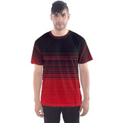 Abstract Of Red Horizontal Lines Men s Sport Mesh Tee