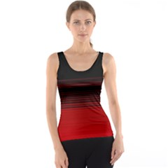 Abstract Of Red Horizontal Lines Tank Top