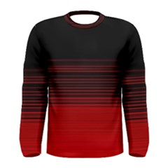 Abstract Of Red Horizontal Lines Men s Long Sleeve Tee