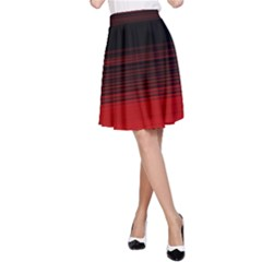 Abstract Of Red Horizontal Lines A Line Skirt
