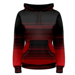 Abstract Of Red Horizontal Lines Women s Pullover Hoodie