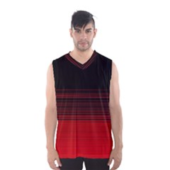 Abstract Of Red Horizontal Lines Men s Basketball Tank Top