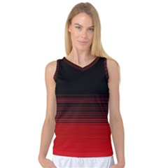 Abstract Of Red Horizontal Lines Women s Basketball Tank Top