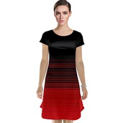 Abstract Of Red Horizontal Lines Cap Sleeve Nightdress