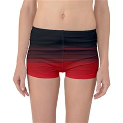 Abstract Of Red Horizontal Lines Reversible Bikini Bottoms